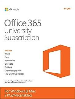 Microsoft Office 365 University 4 Year | PC or Mac Key Card (B009VL9YGU) | Amazon Products