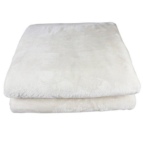 Auralum® Flauschige Decke Kuscheldecke Mikrofaserdecke Tagesdecke Wohndecke Nerzdecke,210x 280cm,Weiß