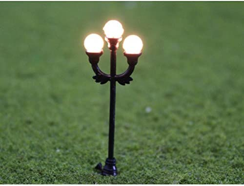 Farolas Modelo de jardín negro 1: 48 10pcs Modelo lámpara Escena ...