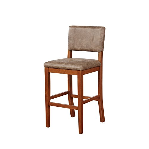Linon Milano Bar Stool Antique Brown