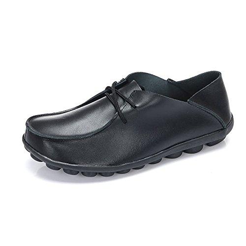 Chaussures Le Mocassin synthétiques pour pour Talon Les Neutre Black Molles Sport Plat Lacent Hommes de Molles de zStYqrwS