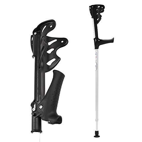XRX Walking Forearm Crutches for Adults and Youth,Adjustable Foldable Lightweight Ergonomic Handle with Comfy Grip with LED Light,High Density Sturdy Aluminum