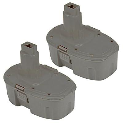 Topbatt 2Packs 18V 3.0Ah NI-MH Replacement Battery for Dewalt Cordless Tools DC9096 DE9039 DE9095 DE9096 DE9098 DW9095 DW9096 DW9098 DE9503 by Topbatt