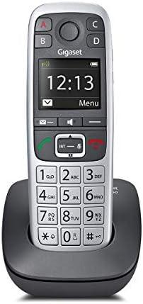 Gigaset E560 DECT Identificador de Llamadas Negro, Plata: Amazon.es: Electrónica