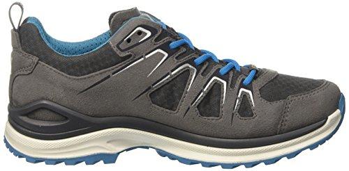 Lowa Innox Evo Gtx Lo Ws, Zapatos de Senderismo para Mujer Gris (Grau/türkis)