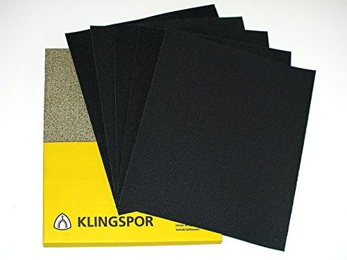 10 Klingspor Wet & Dry abrasive sandpaper 230x280mm sheets. Choose 10 of the same or any mix of these grits 60 80 100 120 240 320 400 600 800 1000 1200 1500 2000. Send me note saying which 10 sheets y