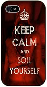 iPhone 4 / 4s Keep Calm and soil yourself - black plastic case / Keep Calm, Motivation and Inspiration, dead, walking