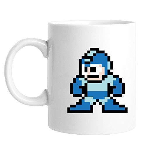 Abby Smith White Coffee Mug Megaman 8bit - 11oz Ceramic (Megaman E Tank Mug)