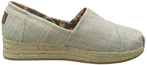 Taupe Highlights from Skechers Wedge BOBS Women's Linen Flexpadrille 7AYTPU