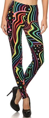 Leggings Mania Women's Regular Or Plus(XS-3XL) Printed High Waist Ultra Soft Always Leggings - Many Patterns