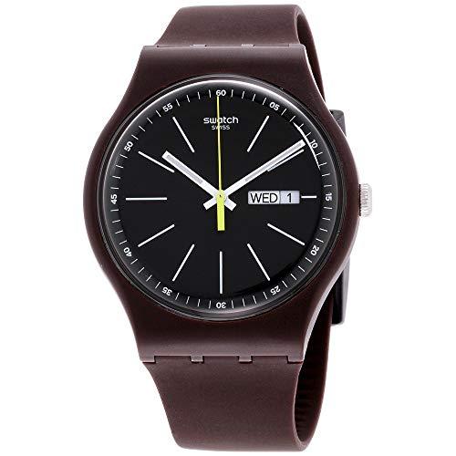 Swatch Men's Analogue Quartz Watch with Silicone Strap SUOC704 (Swatch Silicone Watch Mens)