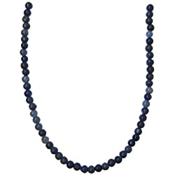 Tennessee Crafts 1003 African Sodalite Facted Round Bead, 4mm, 49-Piece, Blue