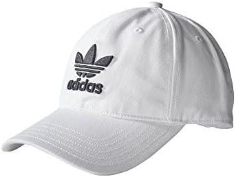 [アディダス]Adidas Originals オリジナルス トレフォイル ロゴ キャップ 帽子 メンズ レディース 男女兼用 (White × Black) [並行輸入品]