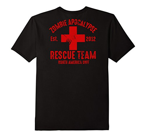 Zombie Response Costume (Mens Zombie Apocalypse Survival Team T Shirt Halloween Costume Large Black)