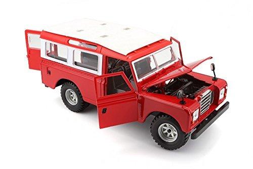 Red Land Rover Series 3 Utility LWB 109 Bburago 1:24 scale Miniature Model BURAGO Auto, moto – pièces, accessoires Auto: pièces détachées