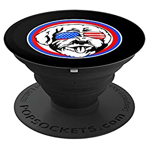 Lagotto Romagnolo Dog Owner Funny Patriotic Red White Blue PopSockets Grip and Stand for Phones and Tablets 6