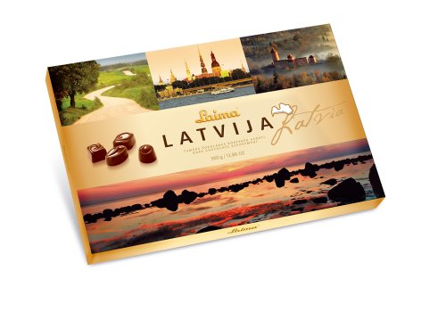 "Dark chocolate assortment ""Latvia"""