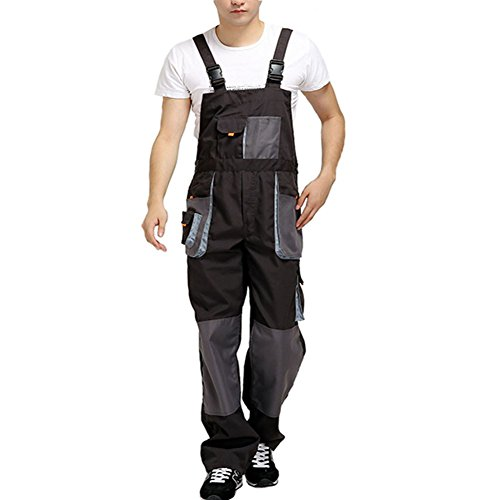 Aolamegs Men's Overalls Coveralls Used for Hiphop and Protective Work US L by Aolamegs
