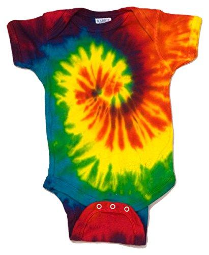 Tie-Dye CD5100 CD Infant Creeper - Spiral Rainbow - 6MOS CD5100