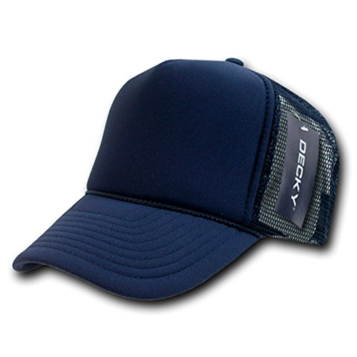 DECKY Solid Trucker Cap, Navy - Baseball Cap Foam