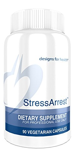 UPC 879452000445, Designs for Health - StressArrest, GABA for Stress Relief, 90 Vegetarian Capsules