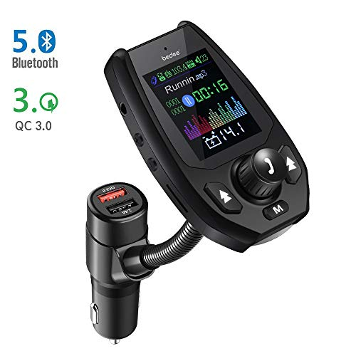 Bluetooth 5 0 FM Transmitter, (Upgraded Version) 1 8