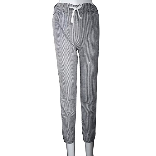 c3dc6ab97db91 ... Cyber Haute Femme Pantalons Gris Loose Taille Monday Casual Grande  Pants Plaid Taille SANFASHION Carotte Chic ...