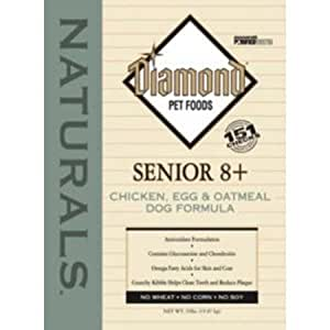 Diamond Naturals Dry Food for Senior Dogs 8+, Chicken and Rice Formula, 18 Pound Bag