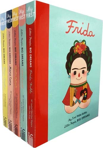 Little people, big dreams series 1 : 5 books collection bundle set ( Maya Angelou ,Marie Curie,Frida Kahlo,Coco Chanel,Amelia ()