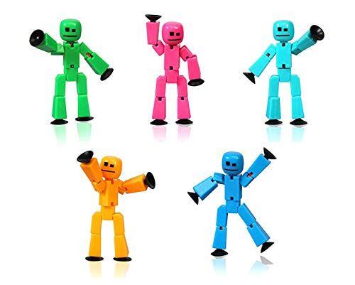 ExpStore Stikbot 5 Solid Random Color Transparent Pink/Light Blue/Yellow/Green/Dark Blue/Purple/Orange/Red Color || Stikbot || Stikbots Action Figure || Stickbot || Stikbots Toys