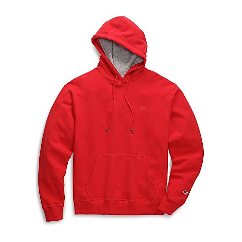 Champion Men's Powerblend Pullover Hoodie, Team Red Scarlet, X-Large -