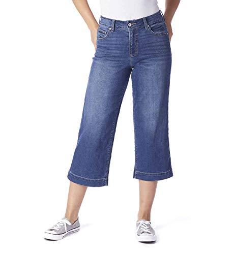 Jag Jeans Women's Lydia High Rise Wide Leg Crop, Brilliant Blue, 10