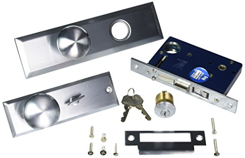 Guard Security Gotham Heavy Duty Mortise Attached Lockset (Left Hand, Satin (Complete Mortise Lockset)