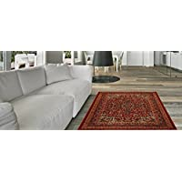 Maxy Home Hamam Traditional Multicolor 18 x 31 Rubber Backed Door Mat