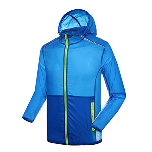 Zhuhaitf Multi-color Premium Womens Lightweight Rainproof Jacket Waterproof Coat 3197 Royal Blue