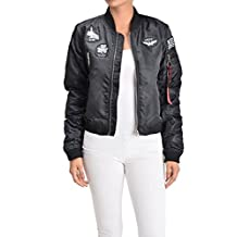 G-Style USA Women's Patched Flight Bomber Jacket