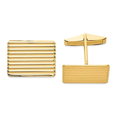 ICE CARATS 14kt Yellow Gold Cuff Links Mens Cufflinks Man Link Fine Jewelry Dad Mens Gift Set (Designer Gold 14k Cufflinks)