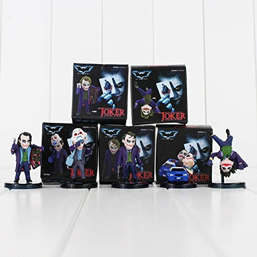 HOLLUK 5 Pcs/Set The Dark Knight The Mini PVC Action Figures Children Toys Gift Doll Collection with Boxes 3.5-6Cm -Multicolor Complete Series Merchandise -