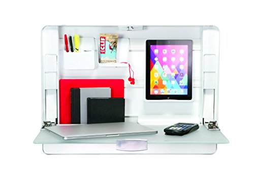 ErgotronHome Workspace Wall Mounted, Height-Adjustable Standing Desk & Organizer (HUB27 White) by ErgotronHome (Image #2)