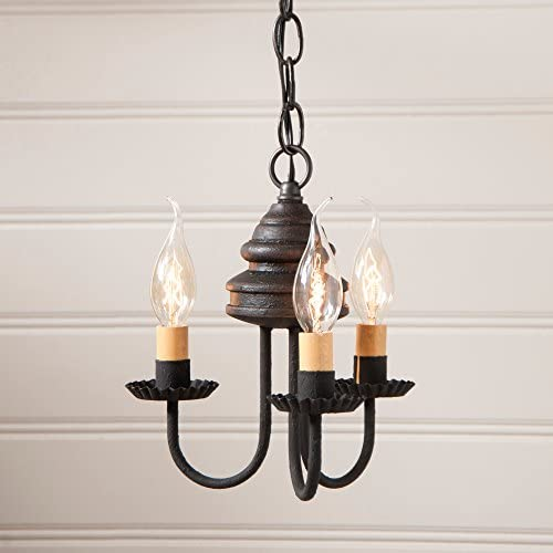 Irvin s Country Tinware Bellview Chandelier in Black