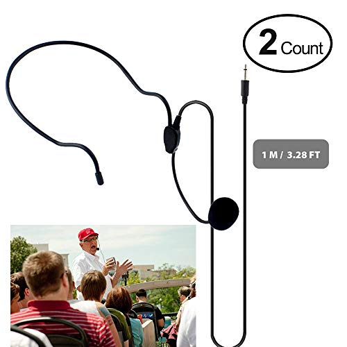 Microphone Vocal Microphones Wired (Professional Best 3.5mm Condenser Mini Headset Microphone Flexible Wired Boom for Belt Pack Mic Systems Voice Amplifier Noise Cancelling Mic)