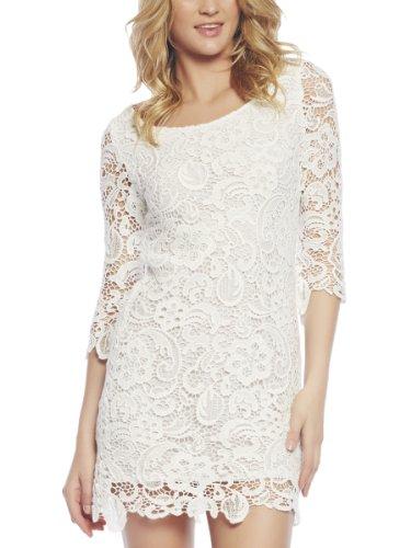 Arden B. Women's Crochet Lace White Dress