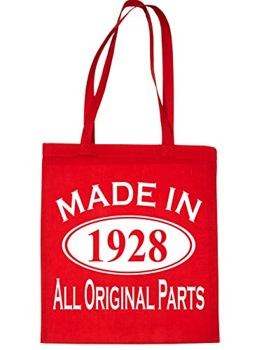 Made Life Bag 90th Birthday Print4u In Tote Red 1928 Shopping For awIqEXZq