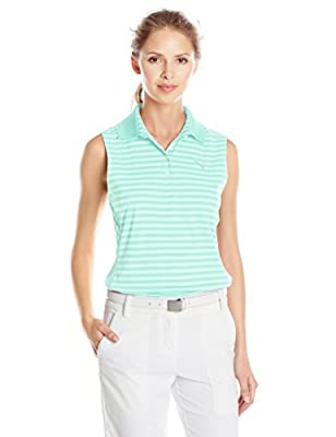 Puma Golf Women's Stripe Sleeveless Polo