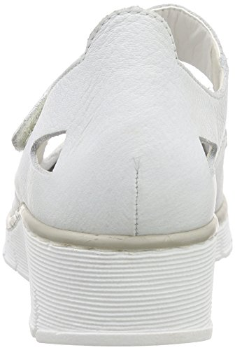 Toe 80 53798 Femme Rieker Women Blanc Ballerines Fermées Weiß Closed weiss wS6vdt
