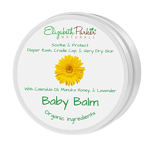 Calendula Ointment Baby Balm - Calendula Cream with Manuka Honey and Lavender - Itch Relief and Baby Moisturizer - Soothes Baby Eczema, Cradle Cap, Diaper Rash, Chapped and Dry & Itchy Skin (2 oz)