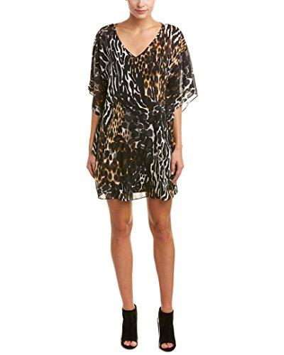 Trina Turk Women's Megan Cheebra Print Silk Georgette Dress, Multi, (Silk Georgette Dress)