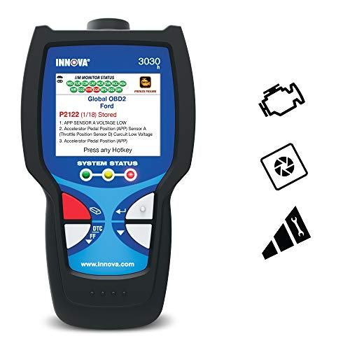 INNOVA 3030h Car Diagnostic Scanner - OBD2 Code Reader/Scan Tool with Freeze Frame (2005 Mazda 3 Check Engine Light Codes)