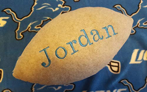 Personalized Handcrafted Fleece Fabric Soft Football Collectible Pillow Toy Plush Stuffed Indoor Ball Made Using Detroit Lions Fabric
