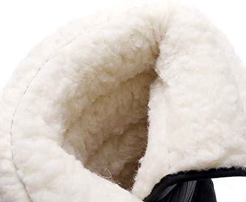 YFWJD Damen Schneestiefel Damen Warm Gefüttert Wasserdicht Gefütterte Winterschuhe rutschfeste Warm Winterstiefel Schnee Stiefel Short Schnee Pelz Regen Stiefel,#8,34